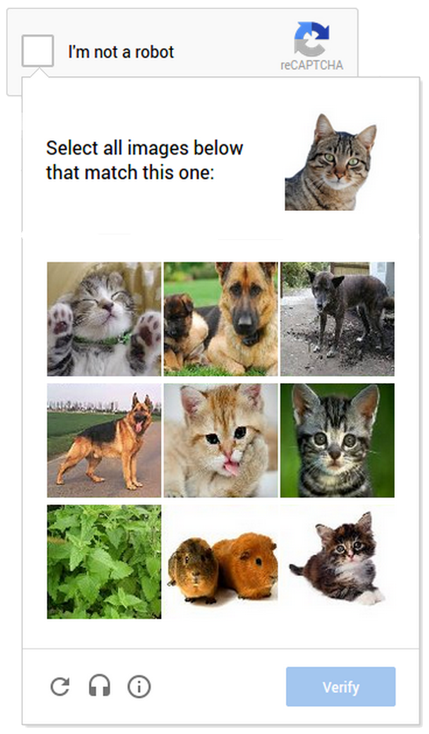 NoCaptcha-reCaptcha show images to pick