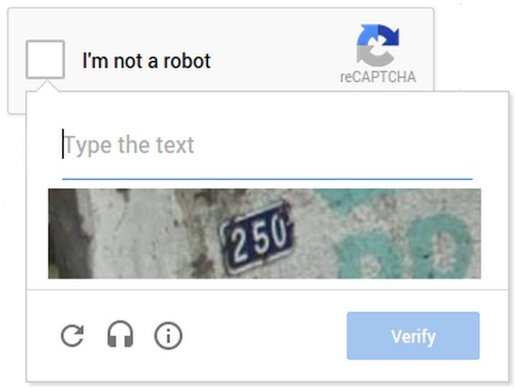 NoCaptcha-reCaptcha shows distorted text