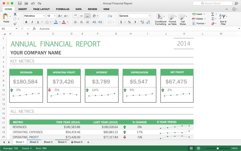 Excel for Mac 2016